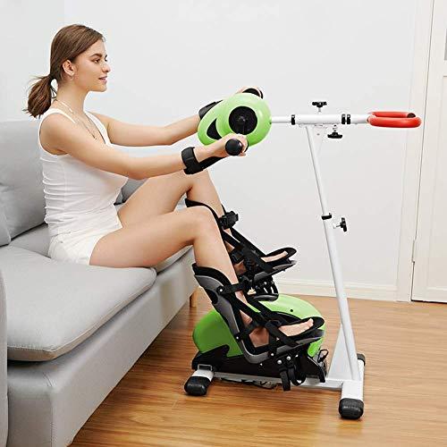 Ejercitador de pedal Terapia física electrónica Rehabilitación Bicicleta estacionaria, máquina de ejercicios para brazos y piernas para discapacitados Accidente cerebrovascular discapacitado