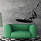 Vinile adesivo windsurf windsurf sport acquatici estremi decorazione murale unica carta da parati wall sticker A4 46x42cm