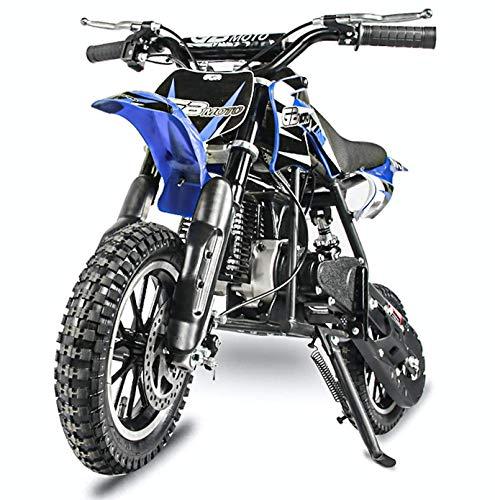 Fit Right 2020 DB001 49CC 2-Stroke Kids Dirt Off Road Mini Dirt Bike, Kid Gas Powered Dirt Bike Off Road Motorcycle (Blue)