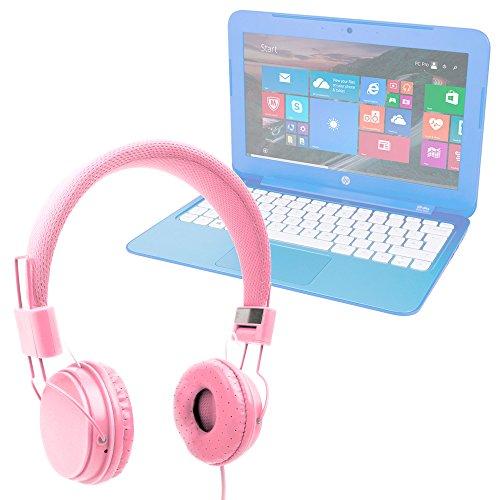 DURAGADGET Auriculares De Diadema Color Rosa para Portátil HP Stream 14-ax003ns / Mediacom SmartBook 14 Ultra Notebook/Medion Akoya E6429 (MD 60182), S2013 (MD 60077), S6219 (MD 60627)