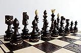 Juego de ajedrez de madera INDIAN de 54 cm / 21 pulgadas, hermoso tablero de ajedrez y piezas de ajedrez hechos a mano