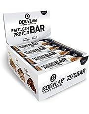 Bodylab Eat Clean Bar 12 x 65g | Suikerarme eiwitreep met waardevolle vezels | 20g eiwit per reep | Lekkere eiwitreep voor fitness, sport en onderweg | pinda-karamel
