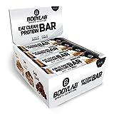 Bodylab24 Eat Clean Bar 12 x 65g | Protein-Riegel mit wertvollen Ballaststoffen | 20g Eiweiß pro Riegel | Leckerer Eiweißriegel für Fitness, Sport und unterwegs | Erdnuss-Karamell