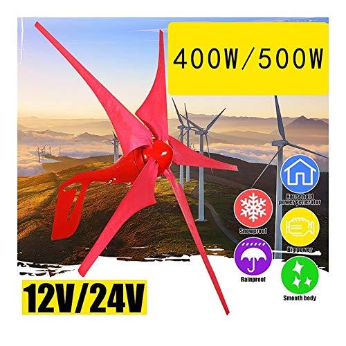 400W/500W 12V/24V Windkraftanlagen Generator 5 Windblatt Windmühle Windgenerator Für Haushaltsstraßenlaterne + Reglerset 2020 (Specification : 400W 12V)