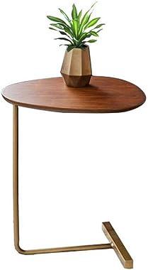 Table d'appoint, Table d'appoint de Salon | Table Basse Vintage Ovale adaptée aux Petits espaces | Pieds en Métal Et