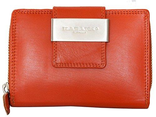 Damen Orange Qualität Weichen Echtleder Geldbörse Kabana