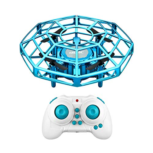 RadRab UFO Flying Toys, Mini Smart Gesture Sensor 3 Speed Rechargeable Control Smart Gesture Drone, for Kids (Blue)