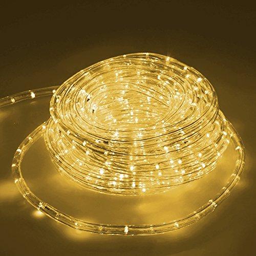 ECD Germany LED Lichtschlauch Lichterschlauch 10 Meter - Warmweiß 3000K - 36 LEDs/m - Innen/Aussen - IP44 - Lichterkette Lichtband Licht Leucht Dekoration Schlauch Leiste Streifen Strip
