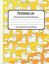 Persian cat Practice Paper Workbook Composition Primary Notebook: Toddler For Preschoolers Journals | Notebook For Prescho...