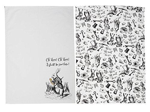 CREATIVE TOPS V&A Alice in Wonderland 2er-Set Mini-Kuchenständer, 10 x 10 x 5,3 cm (4 x 2 Zoll), Textil, One Size, 2