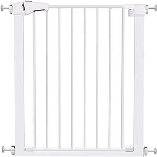 ベビーゲート ドア付きベビーゲート、屋内階段出入口用のペット安全ゲート、バリアオートクローズ、白、幅65-184cm、高さ76cm (Size : 61-68cm)