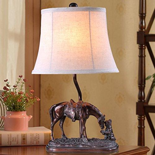 Gute Sache Tischleuchte Kunst Pony Tischlampe Retro Schlafzimmer kreative Schreibtisch Lampe Nachttischlampe europäischen Stil Dekoration Buch Schreibtisch Lampe