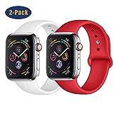 SSEIHI Compatibile con Cinturino Apple Watch 38mm 40mm 42mm 44mm, Cinturino di Ricambio in Silicone Morbido Cinturino di Ricambio Compatibile Serie Iwatch 5/4/3/2 / 1-2pack