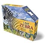 Carletto Deutschland-887003 MADD CAPP-Puzzle de Contorno de Cebra, 1000 Piezas, para Adultos y niños a Partir de 12 años 887003