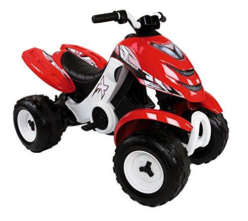 Smoby - 033048 - Quad Électronique X Power Carbone - Véhicule Electronique pour Enfant - 2 Roues...