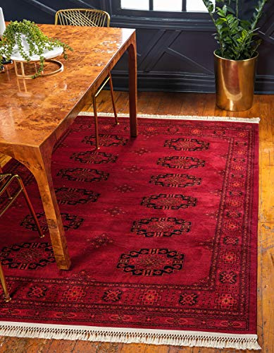 Unique Loom Tekke Collection Tribal Traditional Torkaman Red Area Rug (5' 0 x 8' 0)
