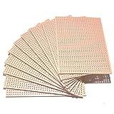 Una lámina de tablero Vero de cobre para prototipos (64 x 95 mm, disponible en 1, 2, 3, 4, 5, 10, 25 o 50 unidades), 10