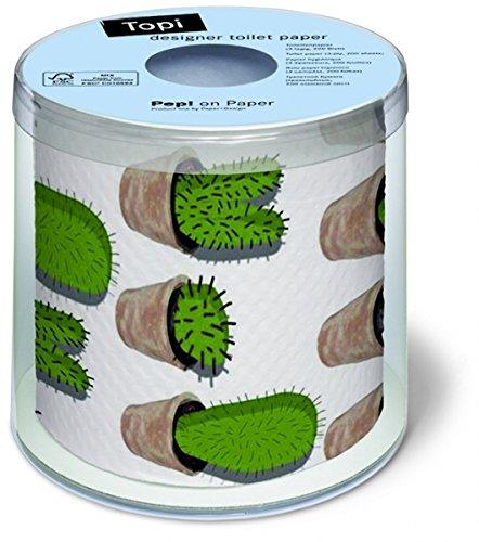 Lustiges Toilettenpapier bedruckt mit MOTIV KAKTUS (CACTUSES)