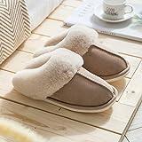 Luntus Zapatillas de casa paraMujer,Zapatos Planos de Gamuza de algodón,...