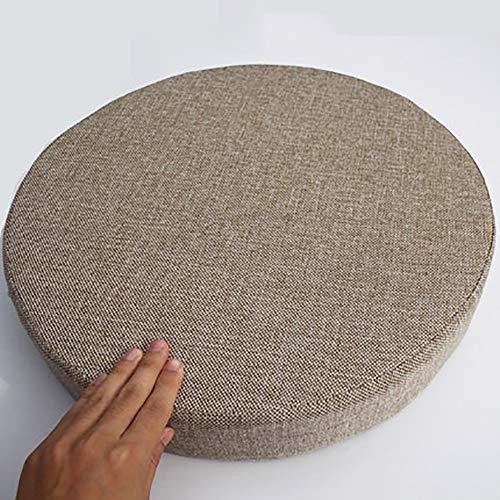 MSM Verdicken Sie Runde Sitzkissen, Tatami Bay-Fenster Balkontür Runde Japaner Sitzkissen Große Futon Stuhl-pad, 8cm Dick-Hellbraun Durchmesser: 40cm