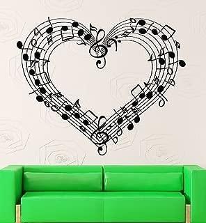 V-studios Wall Decal Sheet Music Love Coolest Room Decor Vinyl Stickers Art Mural VS2583