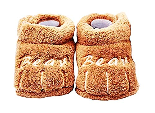 Chaussures Enfant - bébé - Hiver - Chaud - Unisexe - Taille 6/12 Mois - Marron - Idée Cadeau de Noël et d'anniversaire