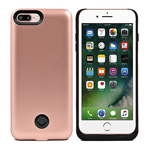 iPhone 7 Plus Battery Case, 9000mAh Protable Rechargeable Extended Charging Backup Battery Case for iPhone 7 Plus 5.5 inch (Rose Gold)
