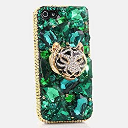 Golden Tiger in Green Background iPhone 6 Plus Case