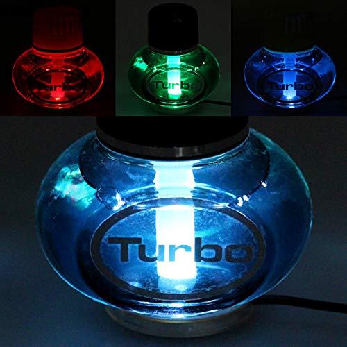 Poppy Turbo Lufterfrischer New Car mit 7 Farben LED Multicolor-Beleuchtung 12V 24V für LKW KFZ Auto Wohnwagen Inhalt 150 ml