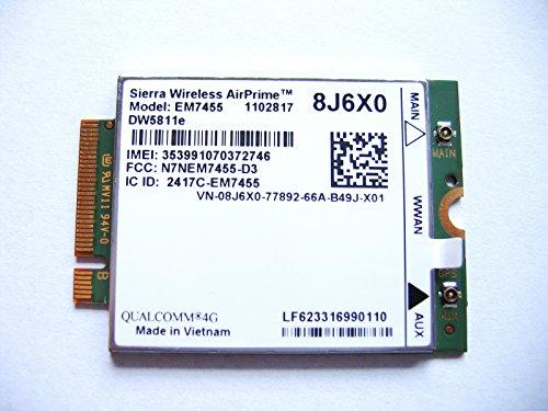 Sierra Airprime EM7455 DW5811E M.2 Mobile Broadband 4G LTE WWAN Dell Wireless Card