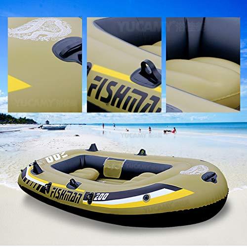 NoxwB Kayak 2/3 Person Tandem Inflatable Fishing Kayak, Puncture Resistant PVC Inflatable Boat Kayak for Drifting Diving Water Sports