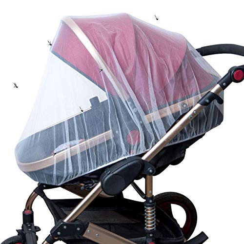 O³ Moskitonetz Cosy Universal | Moskito Netz für Kinderwagen und Buggy | Insektenschutz für Autositz | elastisches Mückennetz