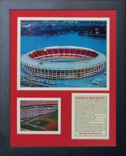"Legends Never Die ""Cincinnati Reds Riverfront Stadium Framed Photo Collage, 11 x 14-Inch"