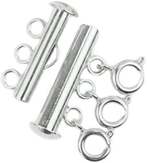 DIY925 Base Clasp Double Lobster Clasp 25 mm 925 Sterling Silver Nickel-Free Interchangeable Clasp for Bracelets and Chains