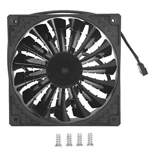 Ventilador de enfriamiento de computadora, Ventilador de chasis Ventilador de Escape silencioso de Alto Volumen de Aire 15 aspas Ventilador silencioso de enfriamiento de computadora(Blacl)