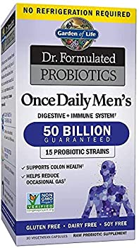 Garden of Life Probiotics for Men and Adults Dr Formulated Once 50 Billion CFU Digestive Health for Constipation Relief with Organic Prebiotic 30 Count