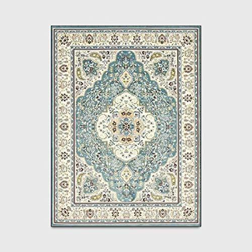 KFEKDT Tappeto di Grandi Dimensioni in Stile Persiano Tappeto di Arte Floreale di Alta qualità per Soggiorno Camera da Letto Antiscivolo Tappetino da Cucina A2 80x160 cm