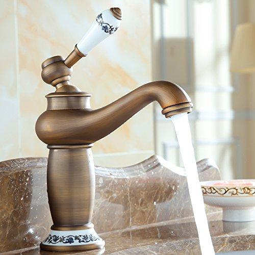 Electroplating Retro Faucet Galvanoplastia Retro Grifo Envío gratis Contemporáneo de latón antiguo grifos de baño lavabo grifo mezclador de agua grifo de mejora del hogar 9031AP, giratorio oro