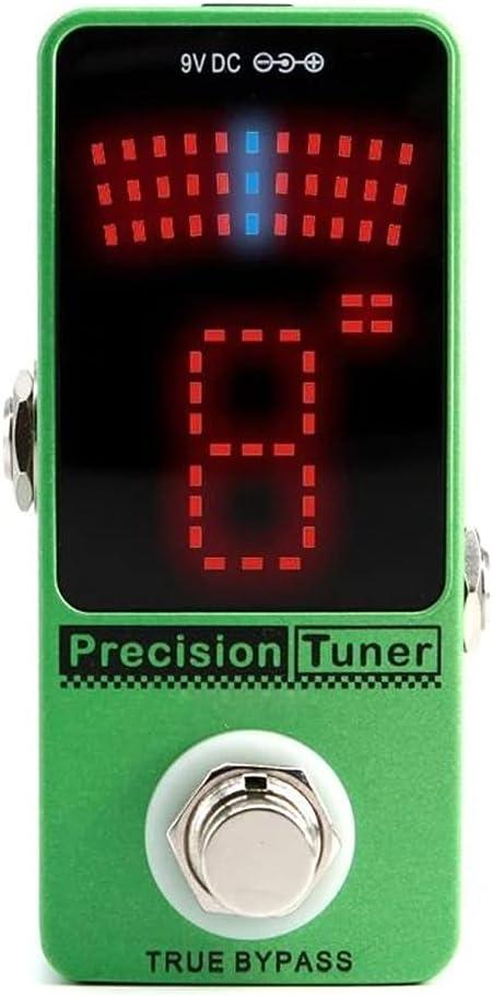 AYDQC Sintonizador de precisión Efecto de Guitarra Pedal Mini Stompbox para 6 Cuerdas Bass 12 Cuerdas Accesorios de Guitarra