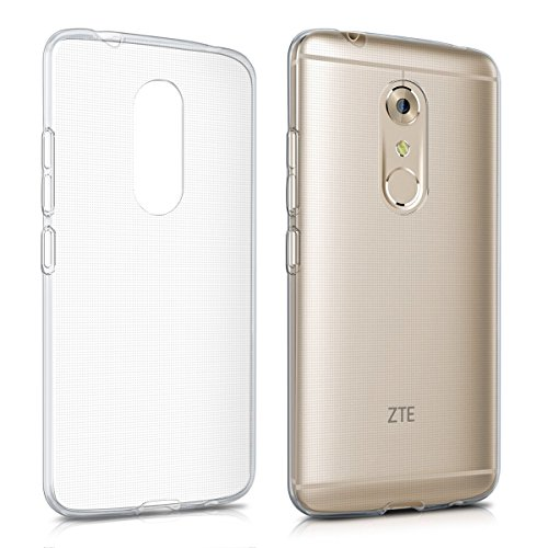 kwmobile Crystal Case Compatible with ZTE Axon 7 - Soft Flexible TPU Silicone Protective Cover - Transparent