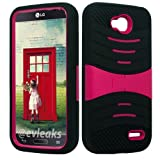 U/C sBLACK/Pink Phone Case Cover for LG Optimus L90 / D410 D405 D405N D415