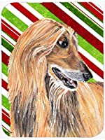 Caroline's Treasures SC9498MP Afghan Hound Candy Cane Holiday Christmas Mouse Pad, Hot Pad or Trivet, Large, Multicolor [並行輸入品]