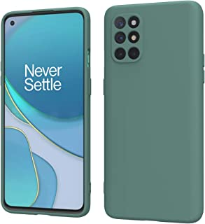 Weycolor Oneplus 8T Case, Liquid Silicone Slim Soft TPU Fit Drop Protection Phone Case (Blackish Green)