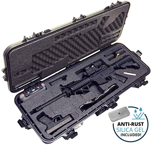 Case Club AR15 Pre-Cut Waterproof Rifle Case with Silica Gel & Accessory Box