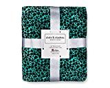 dots & dashes Teal Throw Blanket   Cheetah Print Blanket   Leopard Print Blanket   60x80 Full/Queen Size   400 GSM