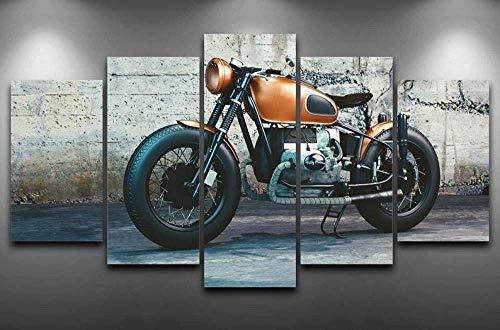 Airxcn Motorrad MotoGP Harl Bike Kreatives Geschenk 5 Panel Leinwand Wandkunst Leinwand Drucke Modern Home Wohnzimmer Dekoration Schlafzimmer Dekor HD Print Poster