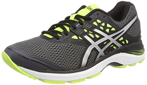 ASICS Herren Gel-Pulse 9 Laufschuhe, Grau (Carbon/Silver/Safety Yellow 9793), 42 EU