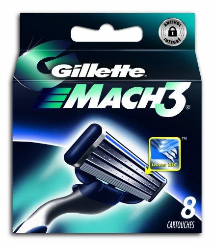 Gillette MACH3–Rasierklingen für Herren–Packung mit 8Klingen