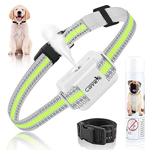 Collar de ladrido de citronela automático para Perros, [Incluye Spray de citronela] Collar de adiestramiento de Perro en Aerosol, Collares de ladrido de citronela Seguros y Humanos (Blanco)