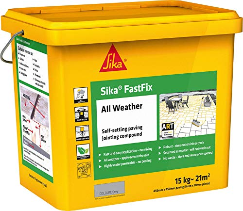 Sika FastFix All Weather Self-Setting Paving Jointing Compound, Buff, 15 kg - 20 sq.m
